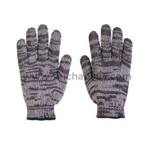 ถุงมือผ้าทอ 4 ขีดลาย