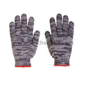 ถุงมือผ้าทอ 5 ขีดลาย