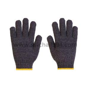 ถุงมือผ้าทอ 6 ขีดเทา