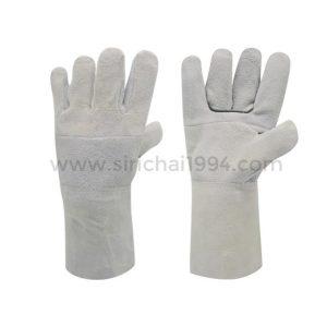 ถุงมือหนังท้องขาวยาว