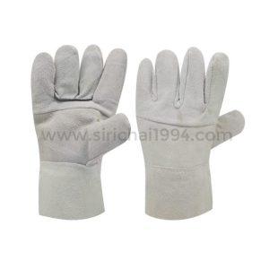 ถุงมือหนังท้องขาวสั้น